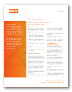 Tripwire Apps Overview