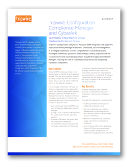 Tripwire CCM and CyberArk: Seamlessly Integrated to Provide