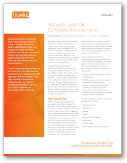 Tripwire Dynamic Software Reconciliation