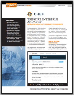 Tripwire Enterprise and Chef