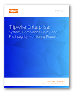 Tripwire Enterprise Report Catalog