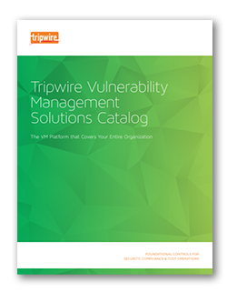 Tripwire Vulnerability Management Catalog screenshot