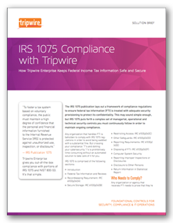 IRS 1075 Compliance with Tripwire