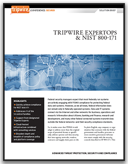 Tripwire Expert Ops and NIST 800-171