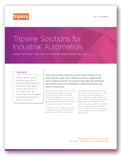 Tripwire Configuration Compliance Manager for Industrial Control Systems