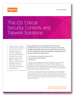 The CIS Critical Security Controls and Tripwire Solutions