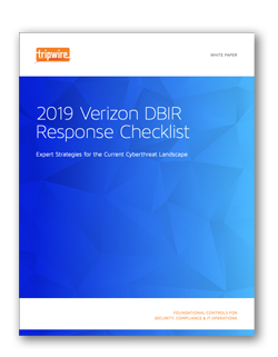 Screenshot of 2019 Verizon DBIR Response Checklist