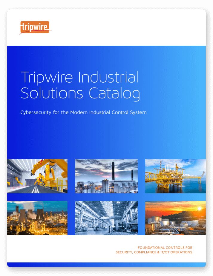 Screenshot of Tripwire Industrial Solutions Catalog